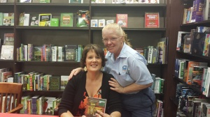 Author Amy Gail Hansen and her Mail Carrier